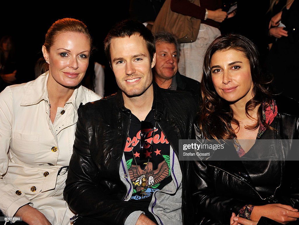 TV host Charlotte Dawson Jonathan Pease and designer Jodhi Meares attend the Bec Bridge catwalk show during the second day of the Rosemount...