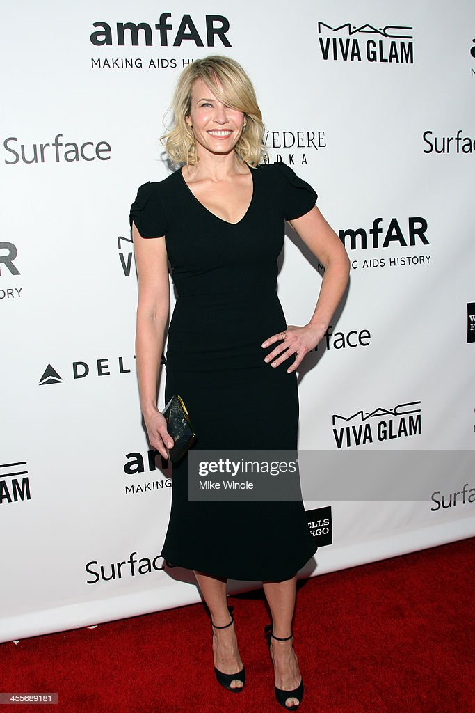 Host <a gi-track='captionPersonalityLinkClicked' href=/galleries/search?phrase=Chelsea+Handler&family=editorial&specificpeople=599162 ng-click='$event.stopPropagation()'>Chelsea Handler</a> attends the 2013 amfAR Inspiration Gala Los Angeles at Milk Studios on December 12, 2013 in Los Angeles, California.