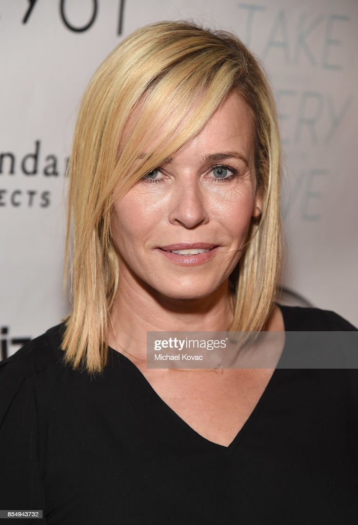 TV host Chelsea Handler attends the Los Angeles premiere of 'Take Every Wave: The Life of Laird Hamilton,' sponsored by Land Rover, Verizon and RYOT on September 27, 2017 in Hollywood, California.