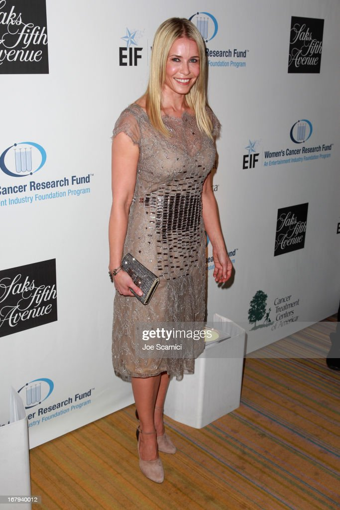 "Host Chelsea Handler wearing Carolina Herrera, attends EIF Women's Cancer Research Fund's 16th Annual ""An Unforgettable Evening"" presented by Saks Fifth Avenue at the Beverly Wilshire Four Seasons Hotel on May 2, 2013 in Beverly Hills, California."