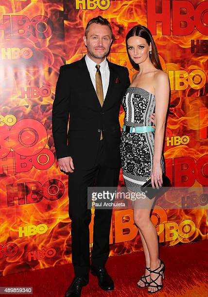 Host Chris Hardwick and Actress / Model Lydia Hearst attend HBO's official 2015 Emmy After Party at The Plaza at the Pacific Design Center on...