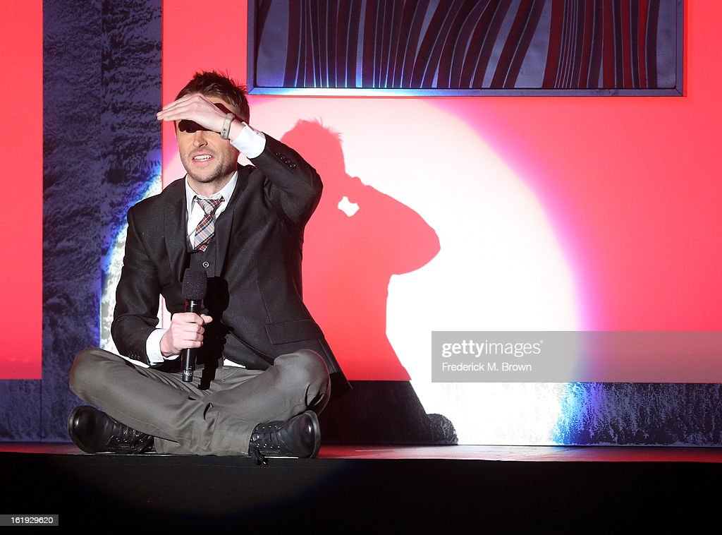 Host <a gi-track='captionPersonalityLinkClicked' href=/galleries/search?phrase=Chris+Hardwick&family=editorial&specificpeople=960855 ng-click='$event.stopPropagation()'>Chris Hardwick</a> speaks onstage at the 3rd Annual Streamy Awards at Hollywood Palladium on February 17, 2013 in Hollywood, California.