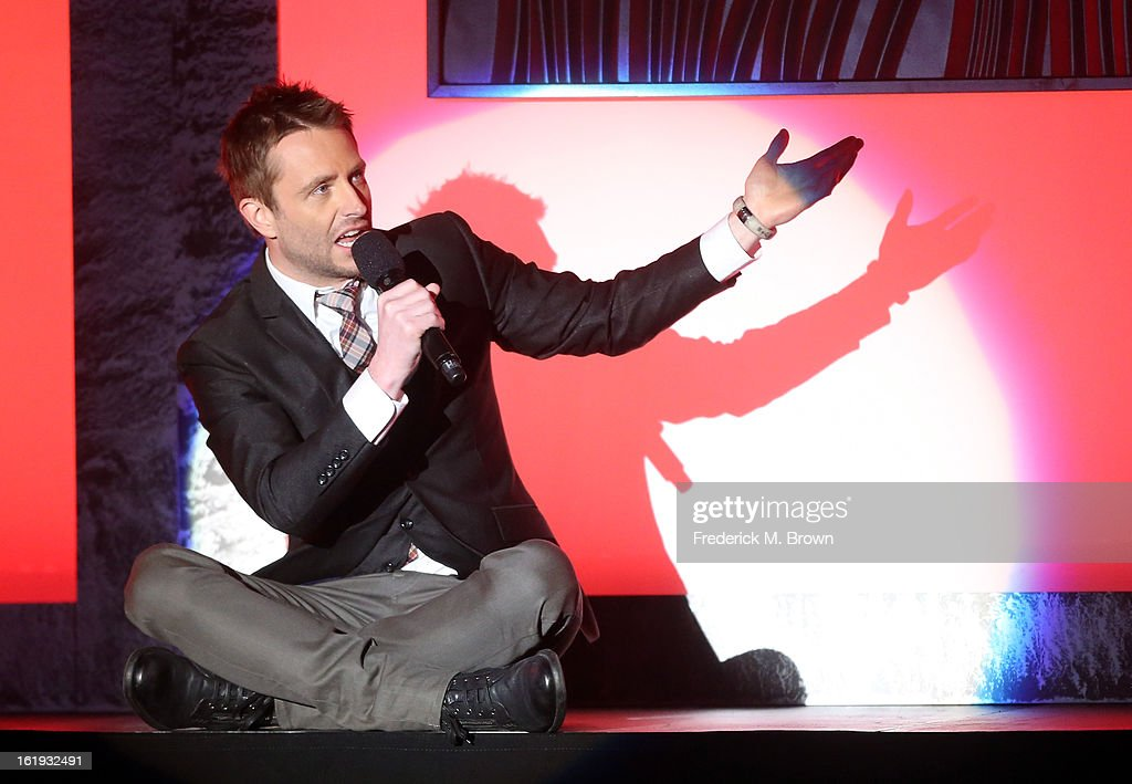 Host Chris Hardwick speaks onstage at the 3rd Annual Streamy Awards at Hollywood Palladium on February 17, 2013 in Hollywood, California.