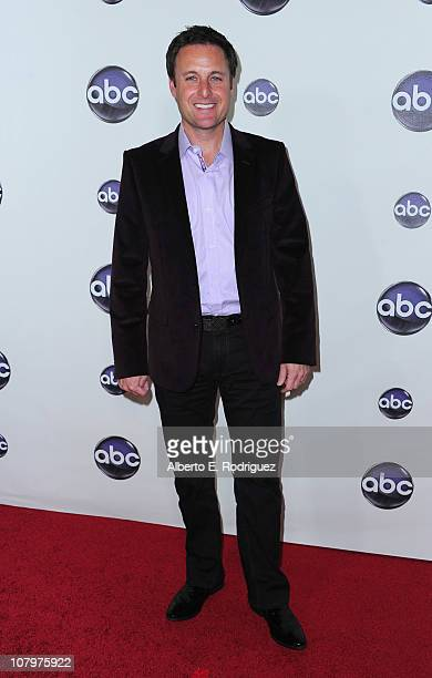 TV host Chris Harrison arrives to Disney ABC Television Group's TCA 'Winter Press Tour' on January 10 2011 in Pasadena California