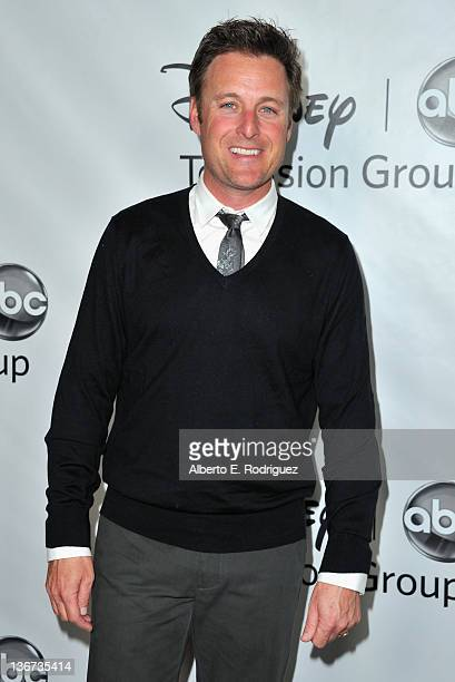 TV host Chris Harrison arrives to the Disney ABC Television Group's 'TCA Winter Press Tour' on January 10 2012 in Pasadena California
