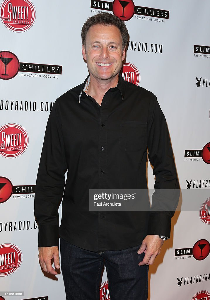 TV Host <a gi-track='captionPersonalityLinkClicked' href=/galleries/search?phrase=Chris+Harrison&family=editorial&specificpeople=583468 ng-click='$event.stopPropagation()'>Chris Harrison</a> attends the Birthday Party for Playboy Radio and TV Personality Jessica Hall at Sweet Candy store on June 26, 2013 in Hollywood, California.