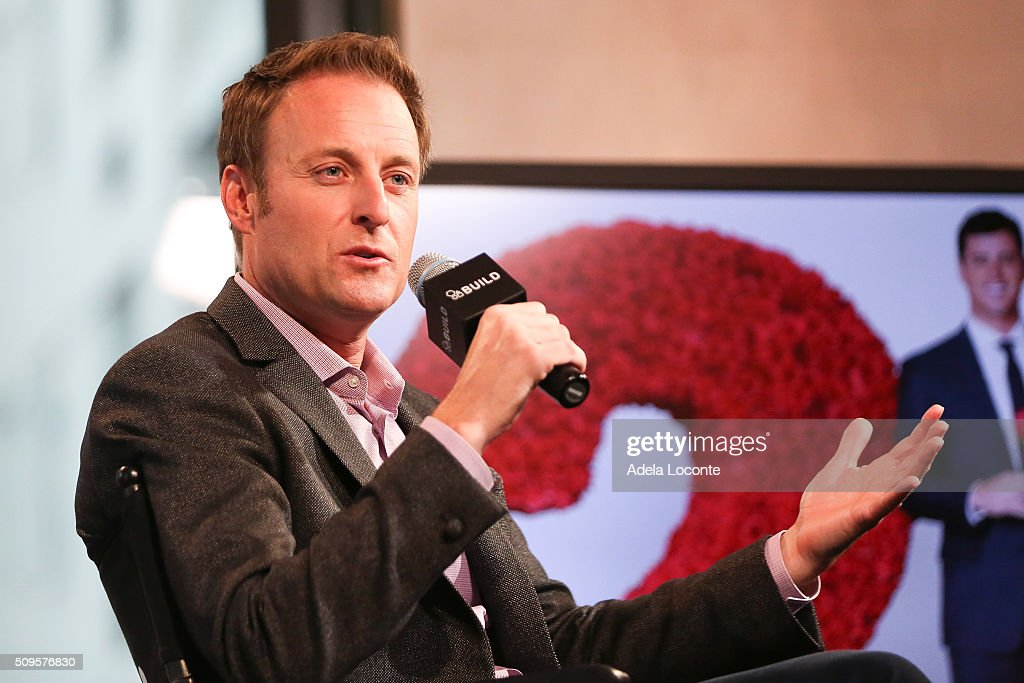 TV Host <a gi-track='captionPersonalityLinkClicked' href=/galleries/search?phrase=Chris+Harrison&family=editorial&specificpeople=583468 ng-click='$event.stopPropagation()'>Chris Harrison</a> discusses 'The Bachelor' at AOL Studios In New York on February 11, 2016 in New York City.