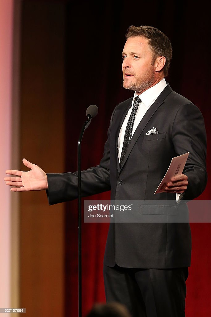 TV host <a gi-track='captionPersonalityLinkClicked' href=/galleries/search?phrase=Chris+Harrison&family=editorial&specificpeople=583468 ng-click='$event.stopPropagation()'>Chris Harrison</a> presents on stage at the 43rd Annual Daytime Emmy Awards at the 2016 Daytime Emmy Awards at Westin Bonaventure Hotel on May 1, 2016 in Los Angeles, California.