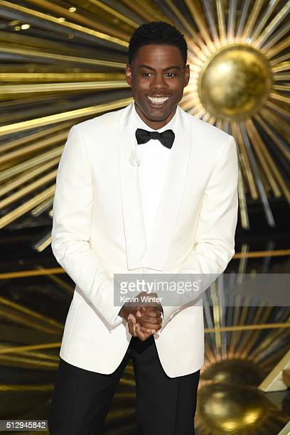 Host Chris Rock speaks onstage during the 88th Annual Academy Awards at the Dolby Theatre on February 28 2016 in Hollywood California
