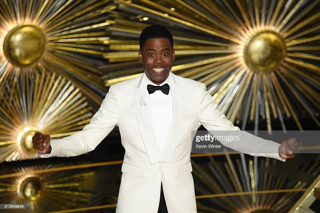 Host <a gi-track='captionPersonalityLinkClicked' href=/galleries/search?phrase=Chris+Rock&family=editorial&specificpeople=202982 ng-click='$event.stopPropagation()'>Chris Rock</a> speaks onstage during the 88th Annual Academy Awards at the Dolby Theatre on February 28, 2016 in Hollywood, California.