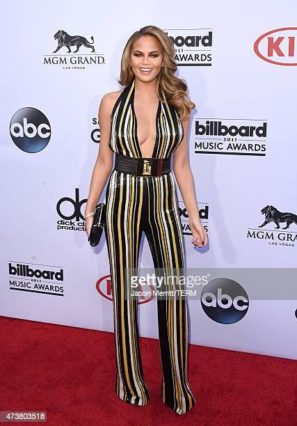 Host Chrissy Teigen attends the 2015 Billboard Music Awards at MGM Grand Garden Arena on May 17 2015 in Las Vegas Nevada