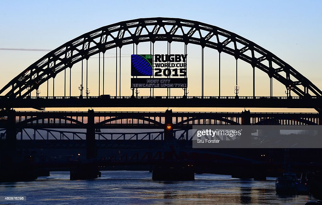 Host City Newcastle begins it's countdown to the IRB 2015 Rugby Union World Cup with the logo appearing on the side of the iconic landmark Tyne...