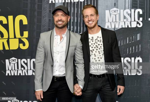 Host Cody Alan and Michael Trea Smith attend the 2017 CMT Music Awards at the Music City Center on June 7 2017 in Nashville Tennessee