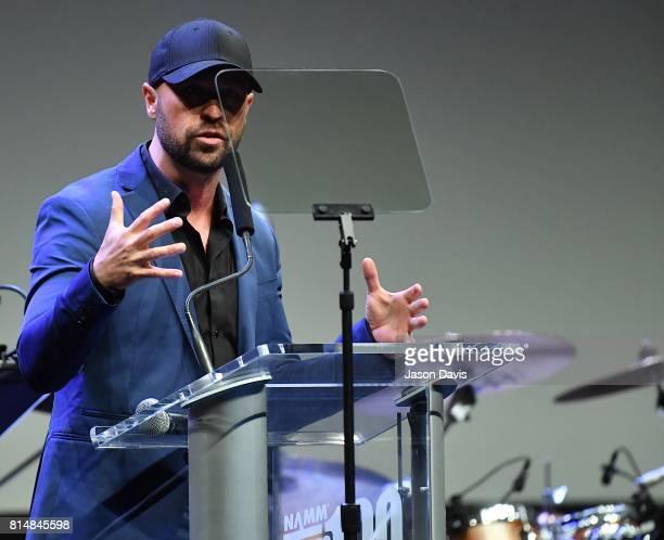 Host Cody Alan speaks during Top 100 Dealer Awards at Summer NAMM at Music City Center on July 14 2017 in Nashville Tennessee