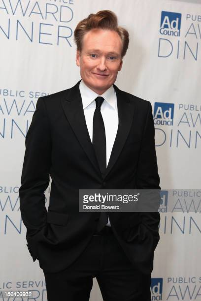 Host Conan O'Brien poses at the Ad Council's 59th Annual Public Service Award Dinner on November 14 2012 in New York City
