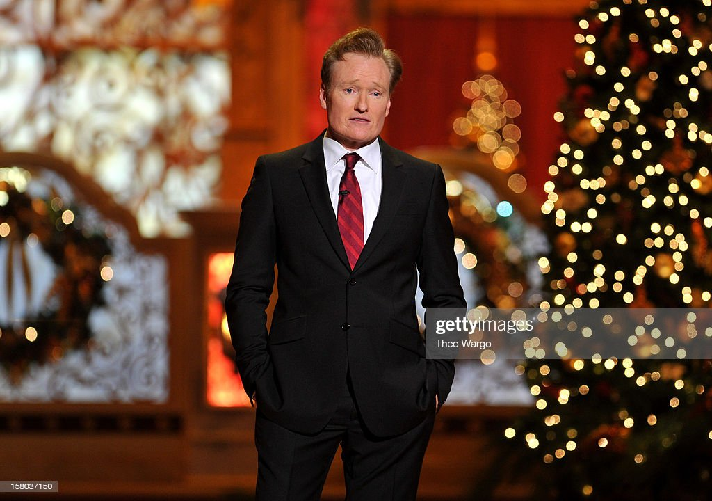 Host <a gi-track='captionPersonalityLinkClicked' href=/galleries/search?phrase=Conan+O%27Brien&family=editorial&specificpeople=208095 ng-click='$event.stopPropagation()'>Conan O'Brien</a> speaks onstage during TNT Christmas in Washington 2012 at National Building Museum on December 9, 2012 in Washington, DC. 23098_002_TW_0241.JPG