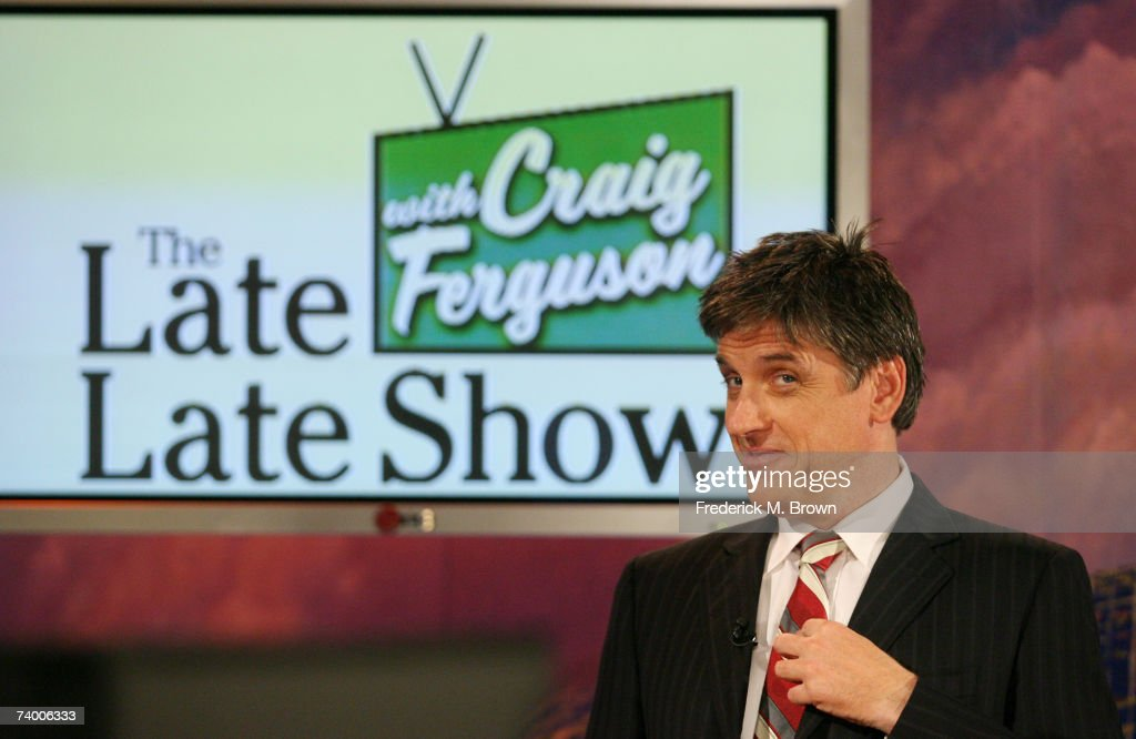 Host Craig Ferguson smiles during a segment of 'The Late Late Show with Craig Ferguson' at CBS Television City on April 26, 2007 in Los Angeles, California.