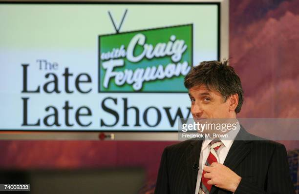 Host Craig Ferguson smiles during a segment of 'The Late Late Show with Craig Ferguson' at CBS Television City on April 26 2007 in Los Angeles...
