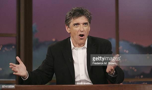 Host Craig Ferguson speaks during a segment of The Late Late Show With Craig Ferguson at CBS Television Studios on April 24 2006 in Los Angeles...