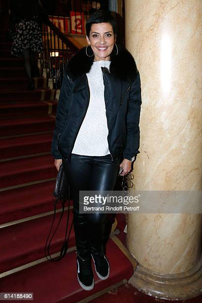 TV host Cristina Cordula attends the 'A Droite A Gauche' Theater Play at Theatre des Varietes on October 12 2016 in Paris France