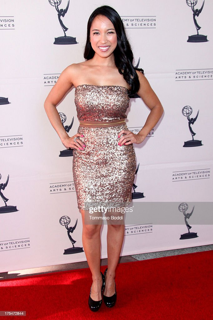 TV host Cyndee San Luis attends the Academy Of Television Arts & Sciences 65th Los Angeles Area EMMY Awards held at the Leonard H. Goldenson Theatre on August 3, 2013 in North Hollywood, California.