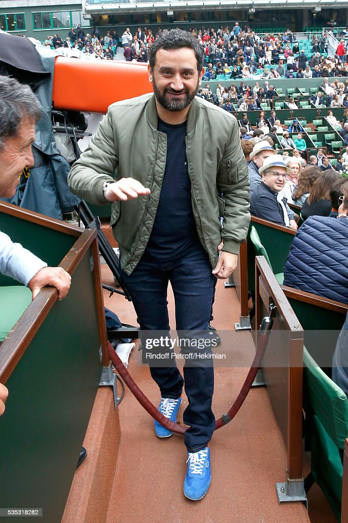 TV Host Cyril Hanouna attends Day Height of the 2016 French Tennis Open at Roland Garros on May 29, 2016 in Paris, France.