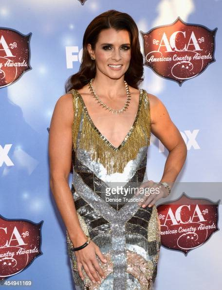 Host Danica Patrick arrives at the American Country Awards 2013 at the Mandalay Bay Events Center on December 10 2013 in Las Vegas Nevada