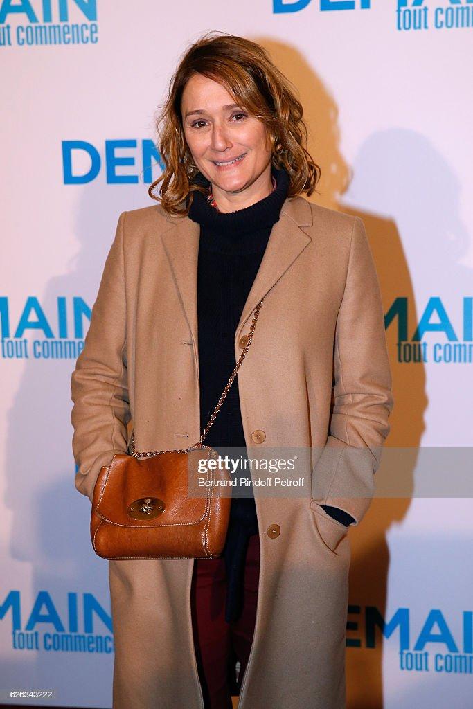 TV Host Daniela Lumbroso attends the 'Demain Tout Commence' Paris Premiere at Cinema Le Grand Rex on November 28, 2016 in Paris, France.