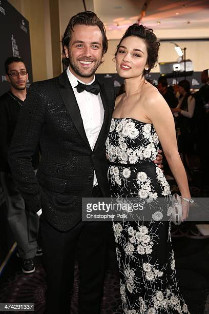 TV host Darren McMullen and actress Crystal Reed attend the 16th Costume Designers Guild Awards with presenting sponsor Lacoste at The Beverly Hilton...