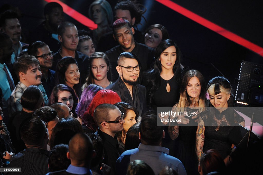 Host <a gi-track='captionPersonalityLinkClicked' href=/galleries/search?phrase=Dave+Navarro&family=editorial&specificpeople=202159 ng-click='$event.stopPropagation()'>Dave Navarro</a> appears on stage during the 'Ink Master' season 7 LIVE finale on May 24, 2016 in New York City.