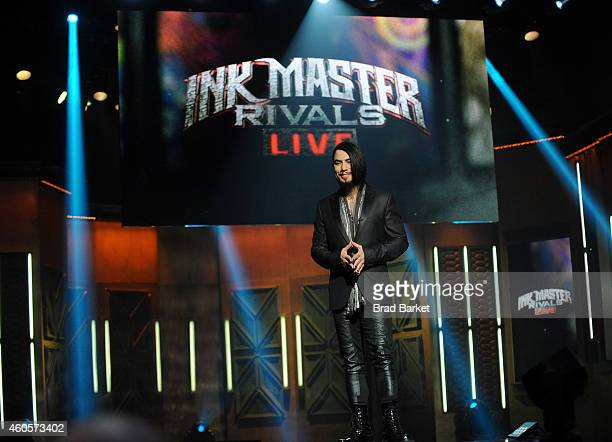 Host Dave Navarro speaks onstage during 'Ink Master' Season Five Live Finale at Manhattan Center Grand Ballroom on December 16 2014 in New York City