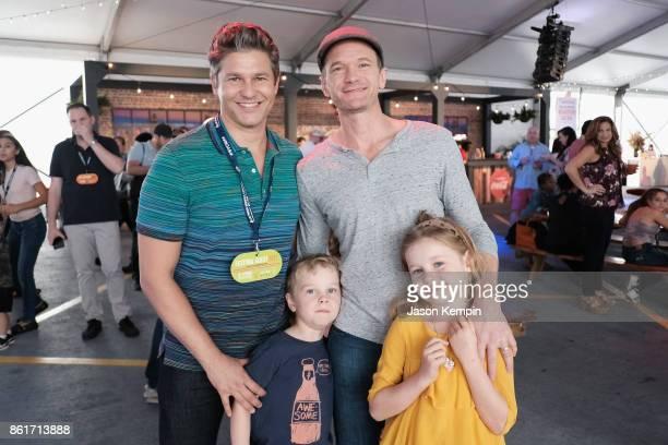 Host David Burtka actor Neil Patrick Harris and Gideon Scott BurtkaHarris and Harper Grace BurtkaHarris attend the Food Network Cooking Channel New...