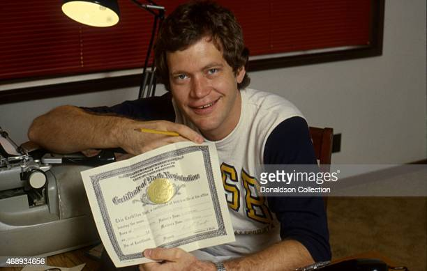 Host David Letterman poses for a portrait in circa1983 in Los Angeles California