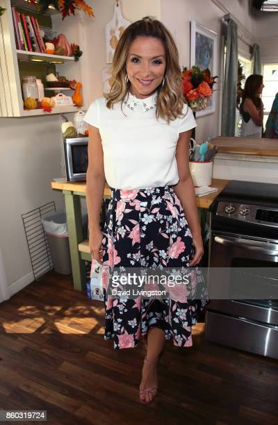 Host Debbie Matenopoulos attends Hallmark's 'Home Family' at Universal Studios Hollywood on October 11 2017 in Universal City California