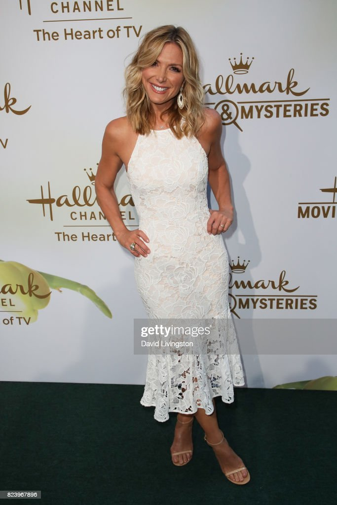TV Host Debbie Matenopoulos attends the Hallmark Channel and Hallmark Movies and Mysteries 2017 Summer TCA Tour on July 27, 2017 in Beverly Hills, California.
