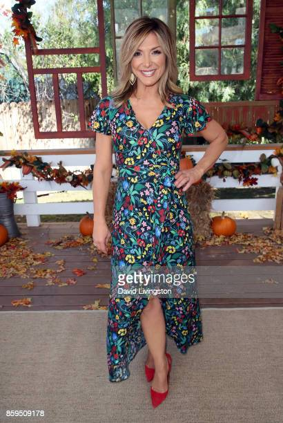 Host Debbie Matenopoulos poses at Hallmark's 'Home Family' at Universal Studios Hollywood on October 9 2017 in Universal City California