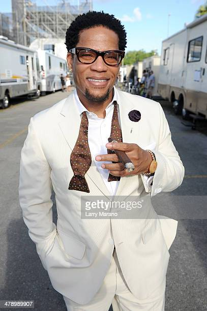 Host DL Hughley attends Day 1 of Jazz In The Gardens at Sun Life Stadium on March 15 2014 in Miami Gardens Florida