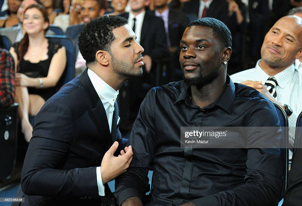 Host Drake and NBA player Lance Stephenson attend The 2014 ESPY Awards at Nokia Theatre LA Live on July 16 2014 in Los Angeles California