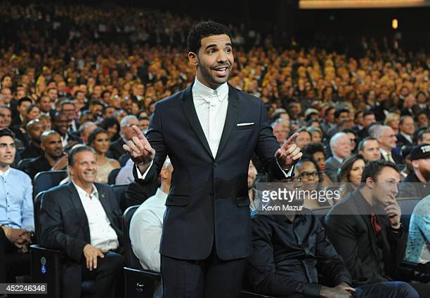 Host Drake attends The 2014 ESPY Awards at Nokia Theatre LA Live on July 16 2014 in Los Angeles California