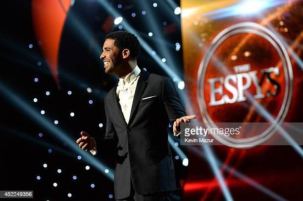 Host Drake speaks onstage during The 2014 ESPY Awards at Nokia Theatre LA Live on July 16 2014 in Los Angeles California