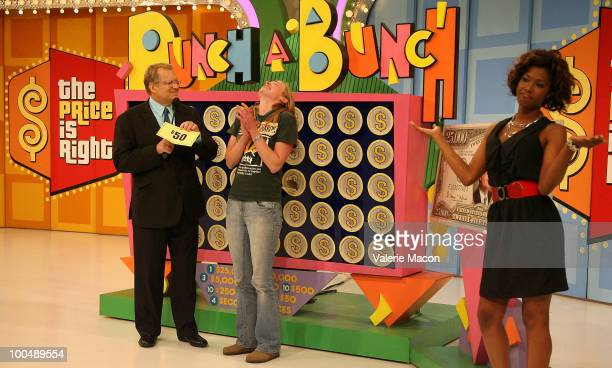 Host Drew Carey attends 'The Price Is Right' Daytime Emmysthemed episode taping at CBS Studios on May 24 2010 in Los Angeles California
