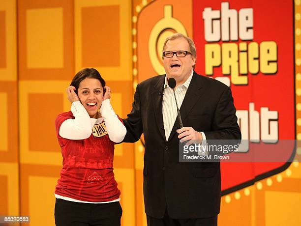 Host Drew Carey speaks during a segment of 'The Price is Right' at CBS Television City on March 9 2009 in Los Angeles California
