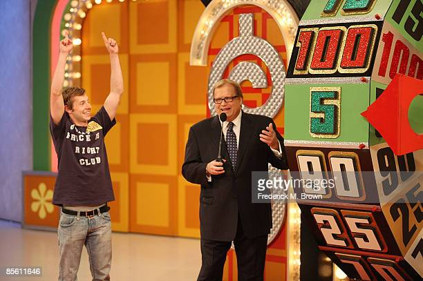 Host Drew Carey speaks during a segment of 'The Price Is Right' at CBS Television City on March 25 2009 in Los Angeles California