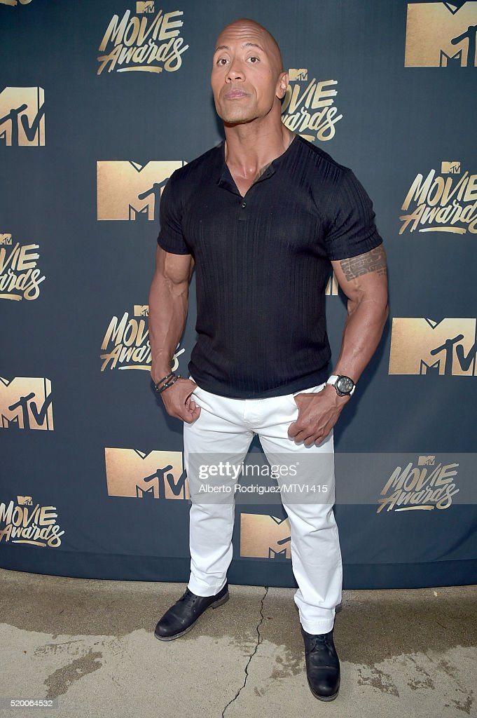host-dwayne-johnson-attends-the-2016-mtv-movie-awards-at-warner-bros-picture-id520064532