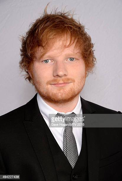 Host Ed Sheeran poses for a portrait before the MTV EMA's at the Mediolanum Forum on October 25 2015 in Milan Italy