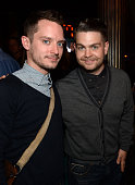 Host Elijah Wood and Fuse News correspondent Jack Osbourne attend the Assasin's Creed IV Black Flag Launch Party at Greystone Manor Supperclub on...