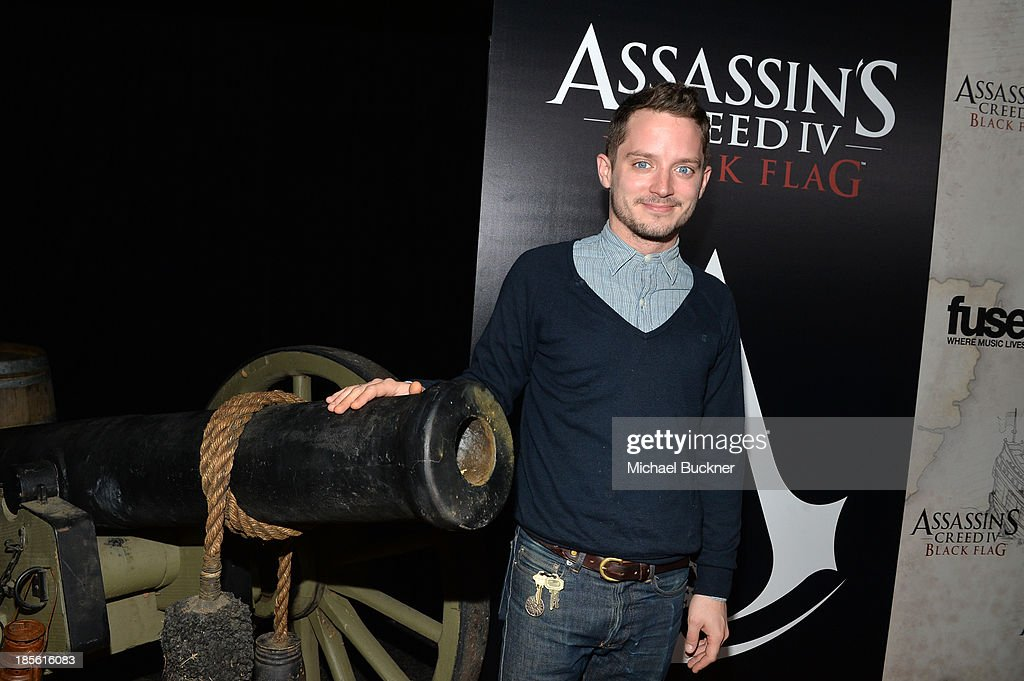 Host <a gi-track='captionPersonalityLinkClicked' href=/galleries/search?phrase=Elijah+Wood&family=editorial&specificpeople=171364 ng-click='$event.stopPropagation()'>Elijah Wood</a> attends the Assasin's Creed IV Black Flag Launch Party at Greystone Manor Supperclub on October 22, 2013 in West Hollywood, California.