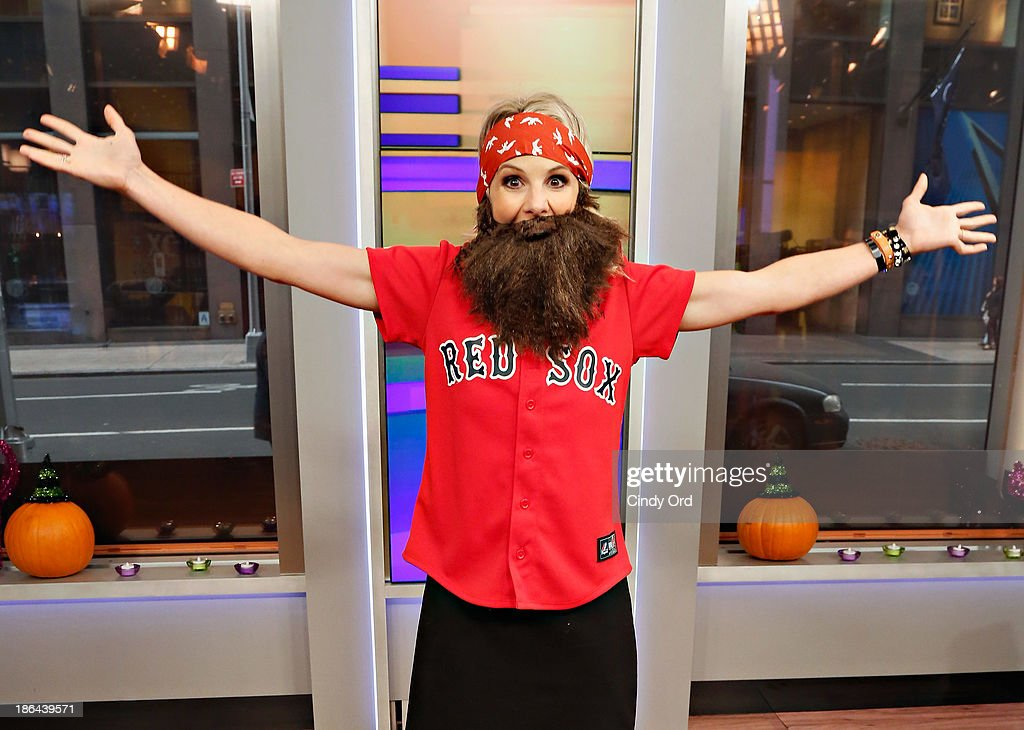 Host Elisabeth Hasselbeck wears a 'Duck Dynasty' costume as 'FOX & Friends' celebrates Halloween at FOX Studios on October 31, 2013 in New York City.