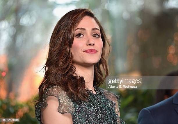 Host Emmy Rossum attends the 2015 Film Independent Filmmaker Grant and Spirit Awards nominee brunch at BOA Steakhouse on January 10 2015 in West...