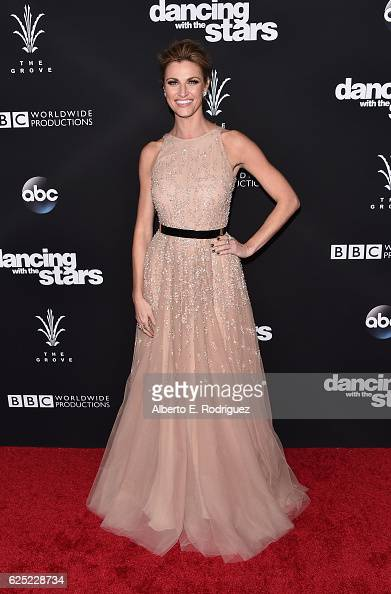TV host Erin Andrews attends ABC's 'Dancing With The Stars' Season 23 Finale at The Grove on November 22 2016 in Los Angeles California